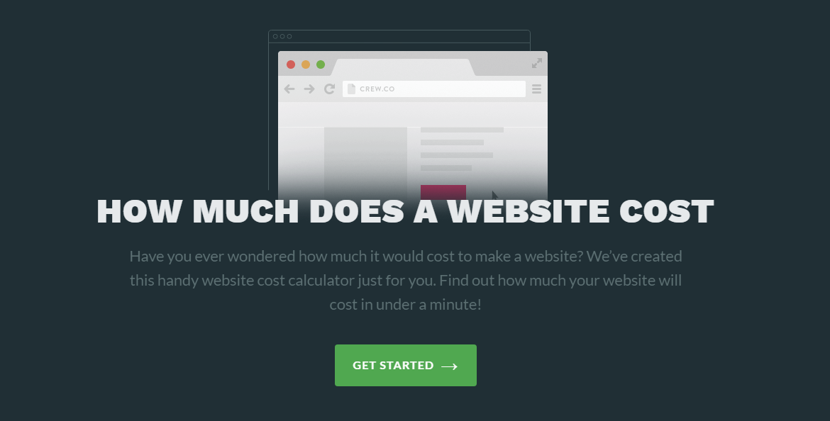 website cost estimator