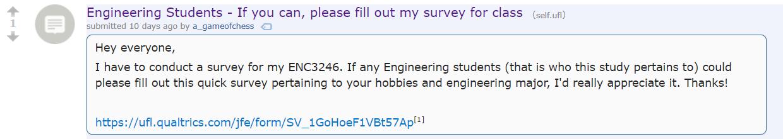 survey reddit